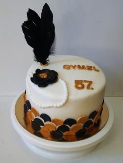 Dort a cupcakes ve stylu 20. a 30. let do tomboly na ples